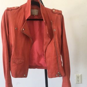 Iro ashvill red leather jacket